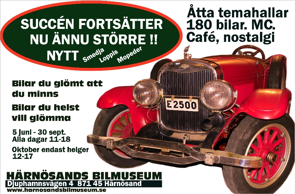 Härnösands bilmuseum 2016